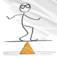 Remise en forme: dessin d'un bonhomme en équilibre