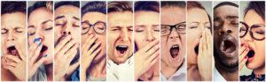 Image de visages qui baillent mal de dos